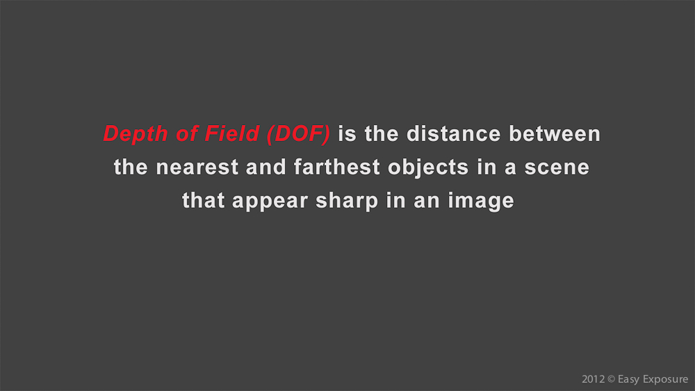 photography lesson about depth of field