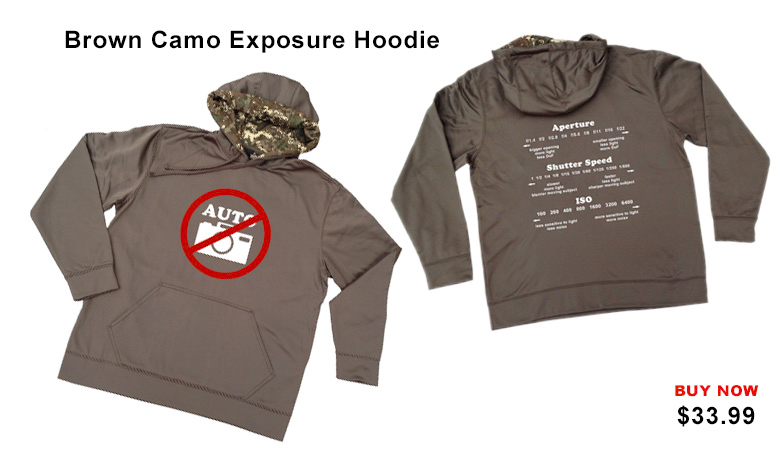 Brown Camo Exposure Hoddie