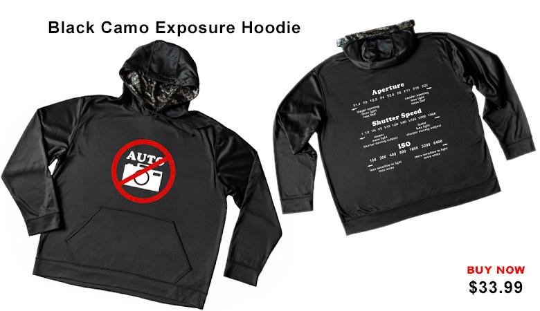 Black Camo Exposure Hoddie