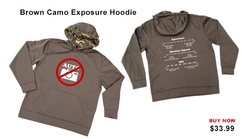 Brown Camo Exposure Hoddie