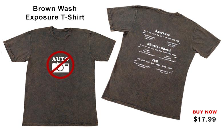 Brown Wash Exposure T-shirt_1