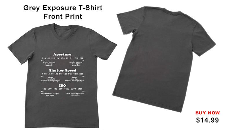 Grey Exposure T-shirt Front